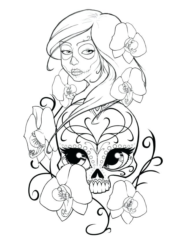 640x828 Coloring Pages Skulls Flames Printable Adult Coloring Pages Sugar