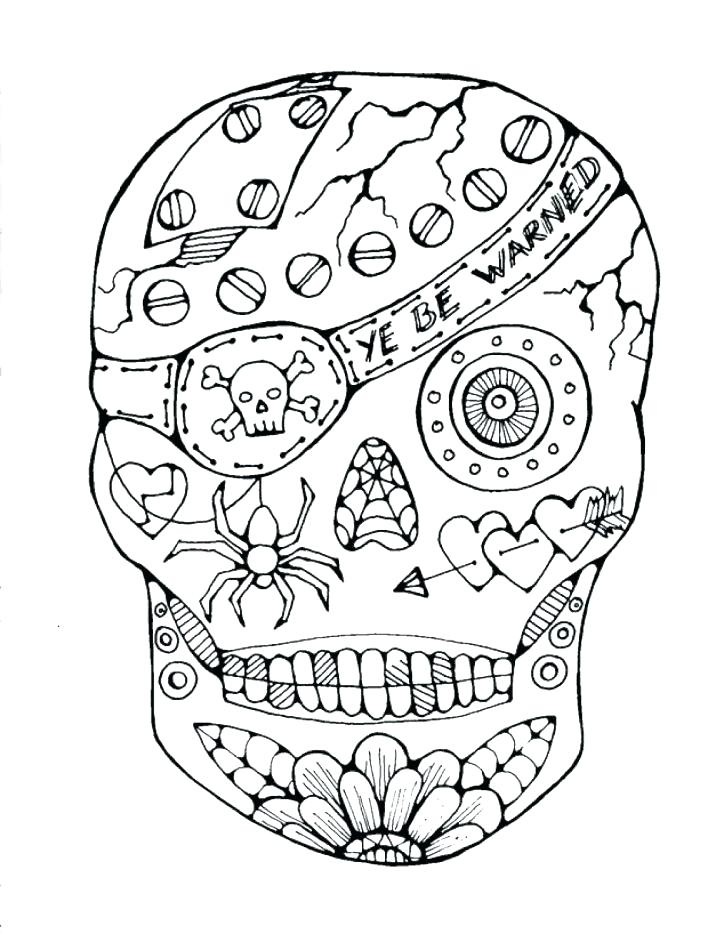 728x942 Coloring Pages Skulls Skull Coloring Pages Sugar Skull Coloring