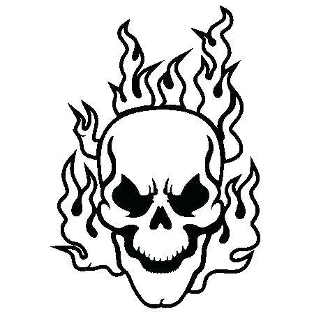 450x450 Printable Skulls Coloring Pages For Kids Flaming Skull Coloring