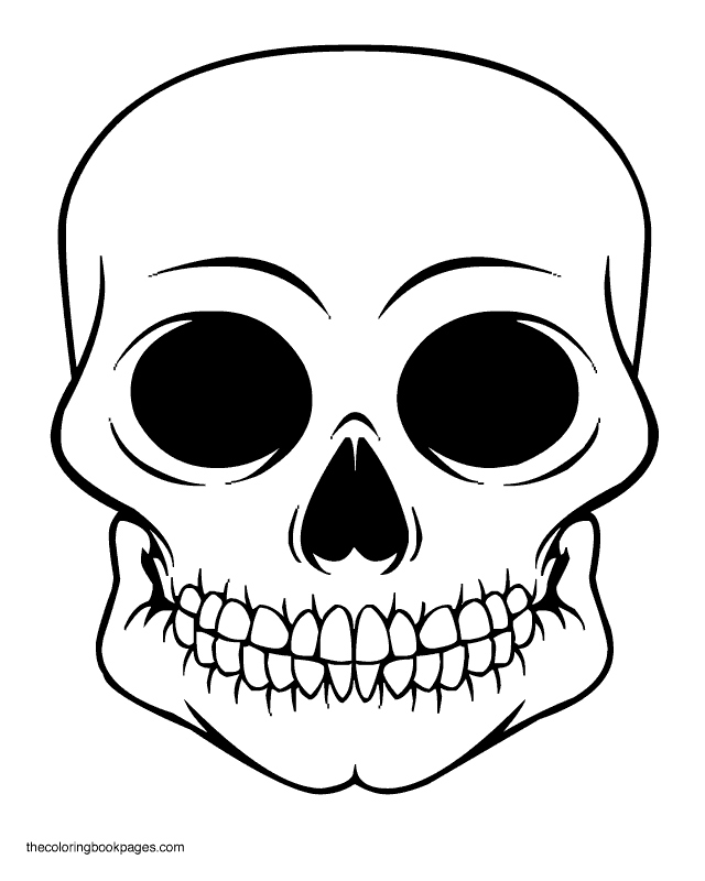 640x800 Skull Coloring Pages New Free Printable Skull Coloring Pages