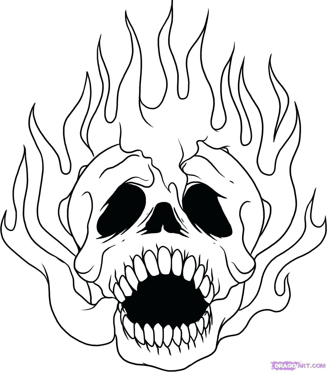 1149x1307 Urgent Coloring Pages Skulls Flames