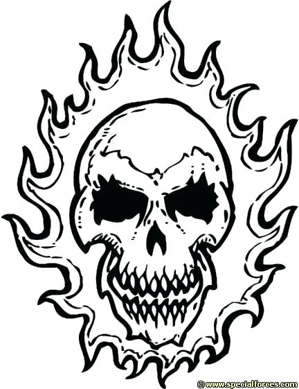 432x561 Coloring Flaming Skull Coloring Pages Of Skulls With Flames