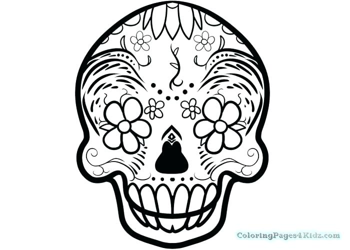 700x500 Classy Sugar Skull Coloring Page New Pages Free Printable Colouri