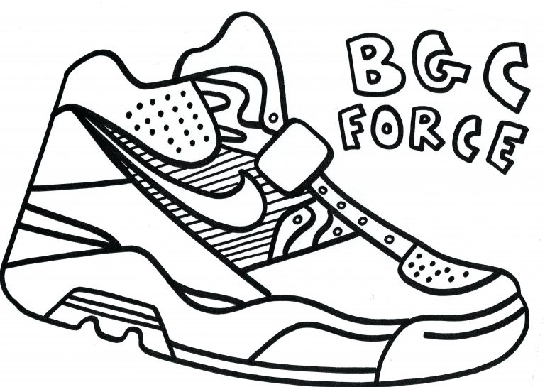 768x545 Coloring Pages Running Shoes Fresh Shoe Page Download Of Stephen