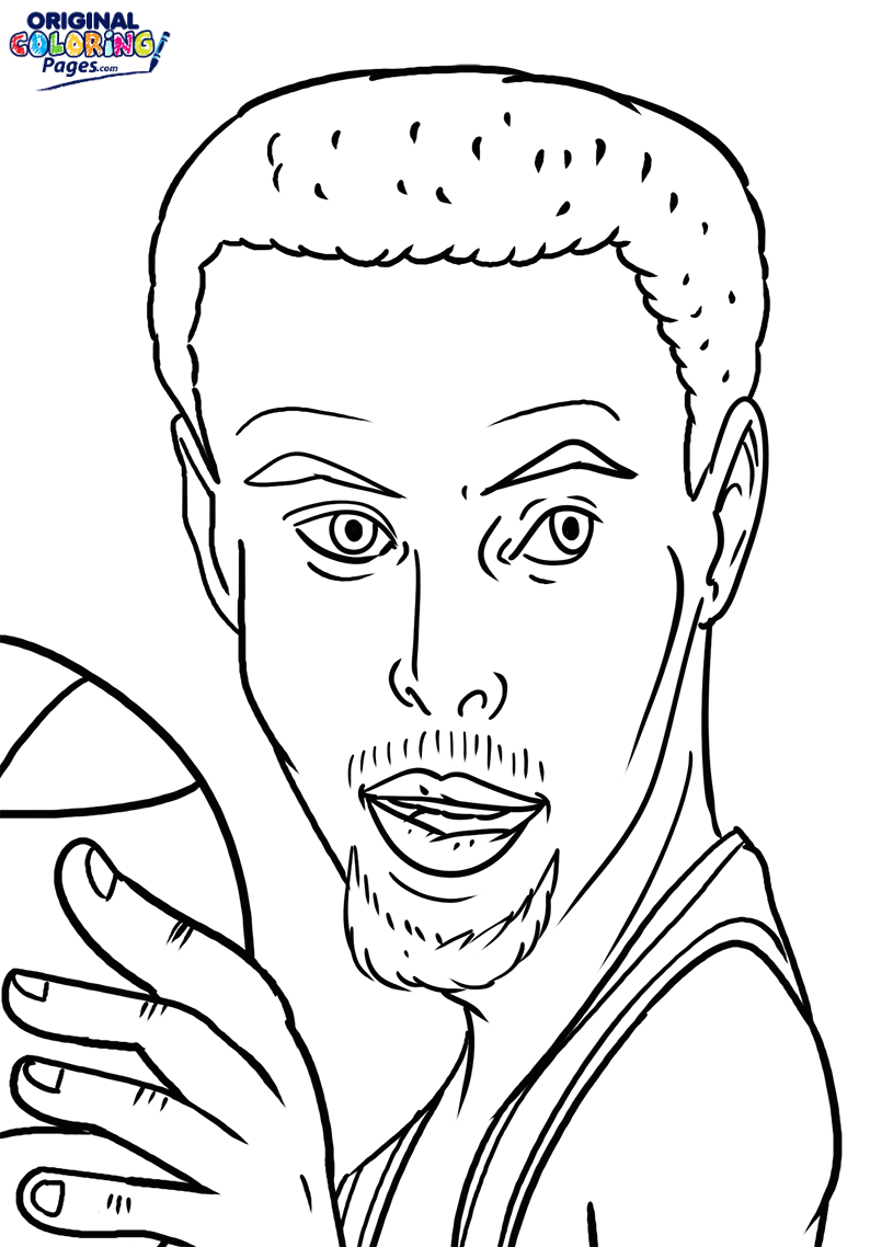 815x1138 Stephen Curry Coloring Page Coloring Pages Original Coloring Pages