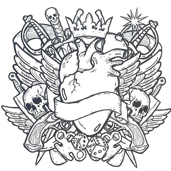Coloring Pages Of Tattoos at GetDrawings.com | Free for ...