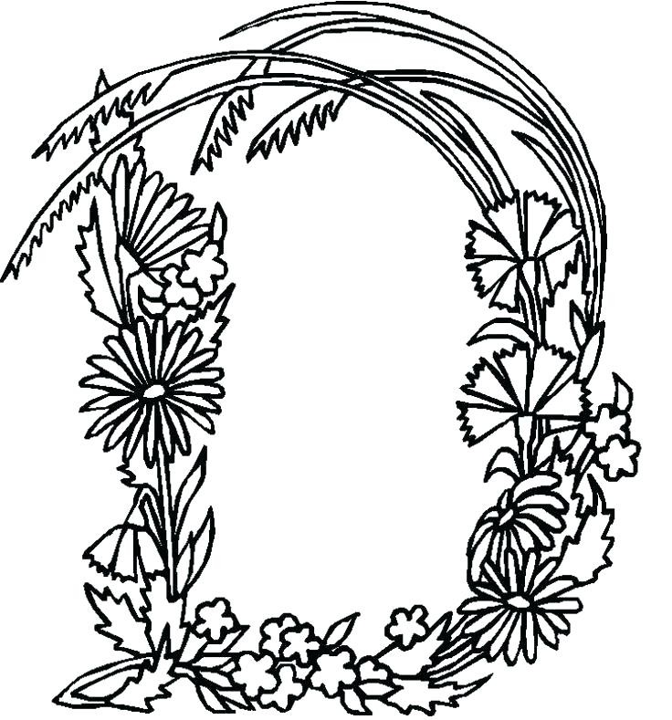 736x789 Fresh Coloring Pages For The Letter D