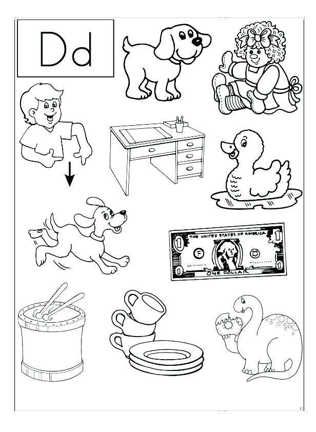 616x842 D Coloring Pages Letter D Coloring Pages Free Printable Letter D