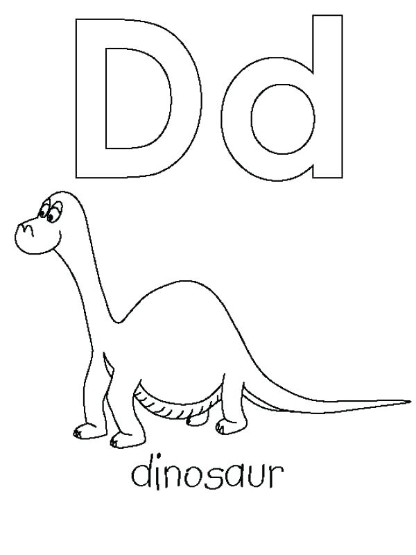 600x800 Letter D Coloring Pages D Coloring Page For Learning Letter D