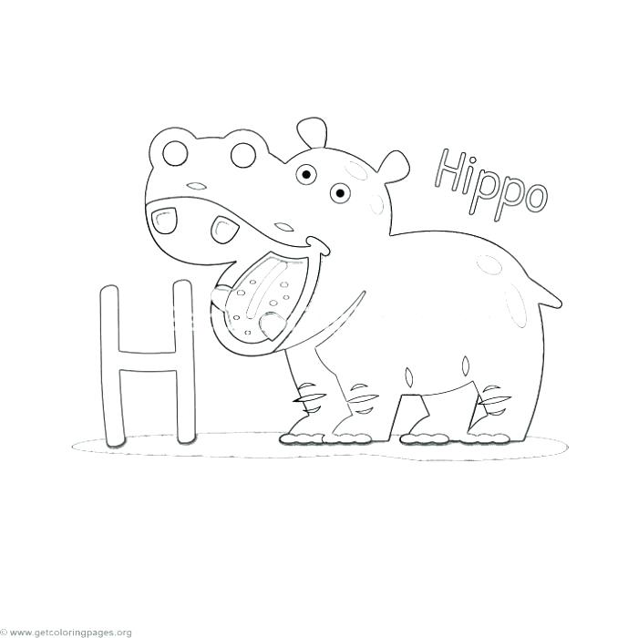 700x700 Letter H Coloring Pages Animal Alphabet Letter H Coloring Pages