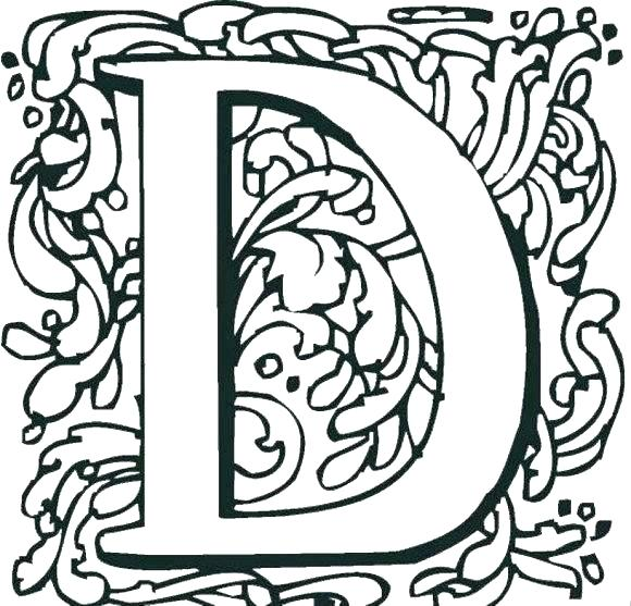 580x557 The Letter D Coloring Pages D Coloring Pages Letter N Coloring