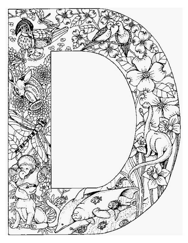618x800 Alphabet Animal Coloring Pages Letter D Teach It!