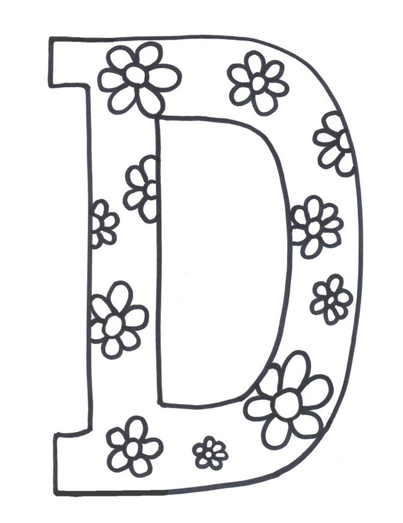 1339x1737 Coloring Pages Letter D Coloring Pages Letter D Letter D Free