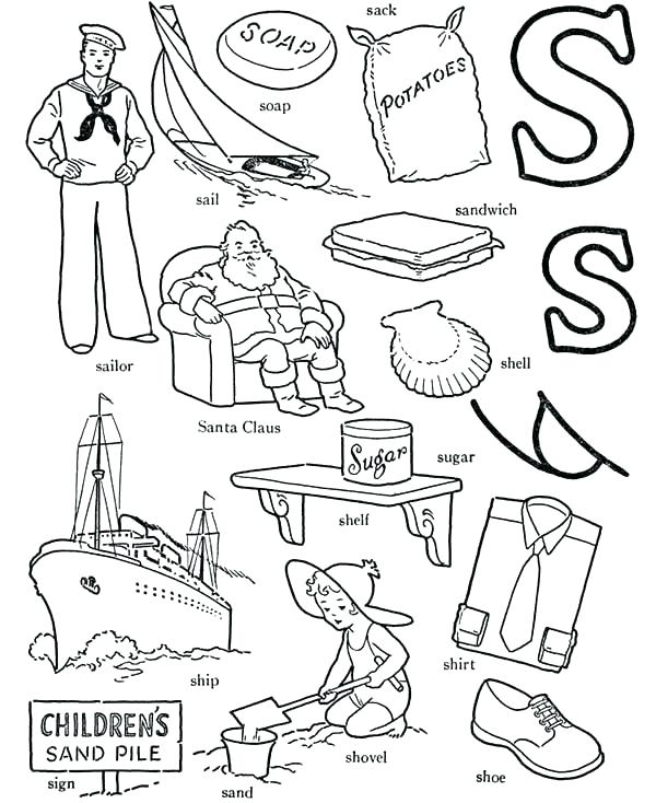 600x734 Letter I Coloring Pages Letter S Coloring Pages Packed With Learn