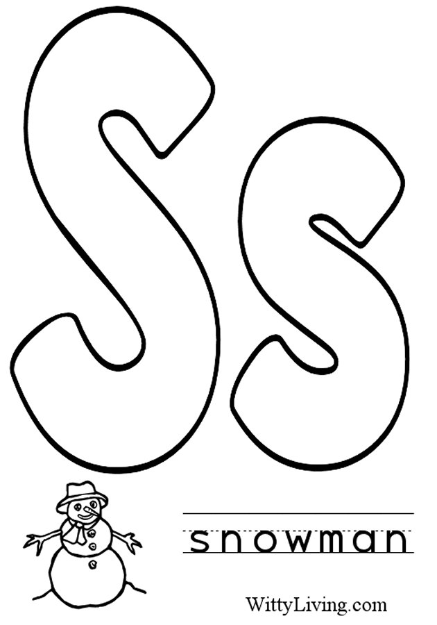 630x900 Letter S Coloring Pages
