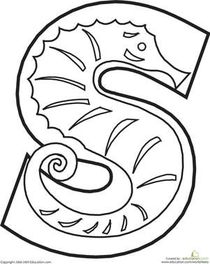 301x378 Letter S Coloring Pages Letter S Printable Worksheets Coloring