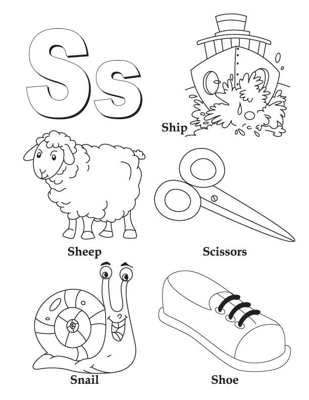 612x792 Letter S Coloring Sheet S Coloring Pages My A To Z Coloring Book