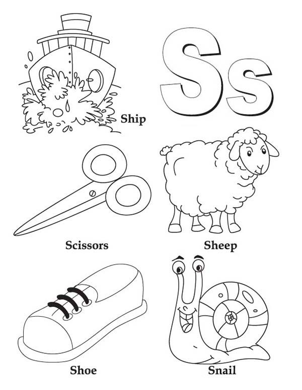 600x776 Coloring Pages Letter S Charming Letter S Coloring Pages