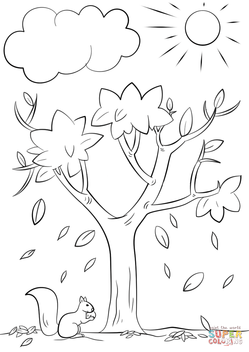 Coloring Pages Of Trees With Branches
