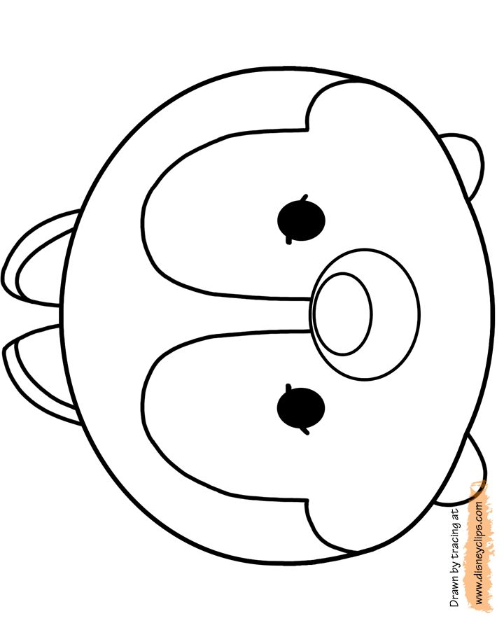Coloring Pages Of Tsum Tsum