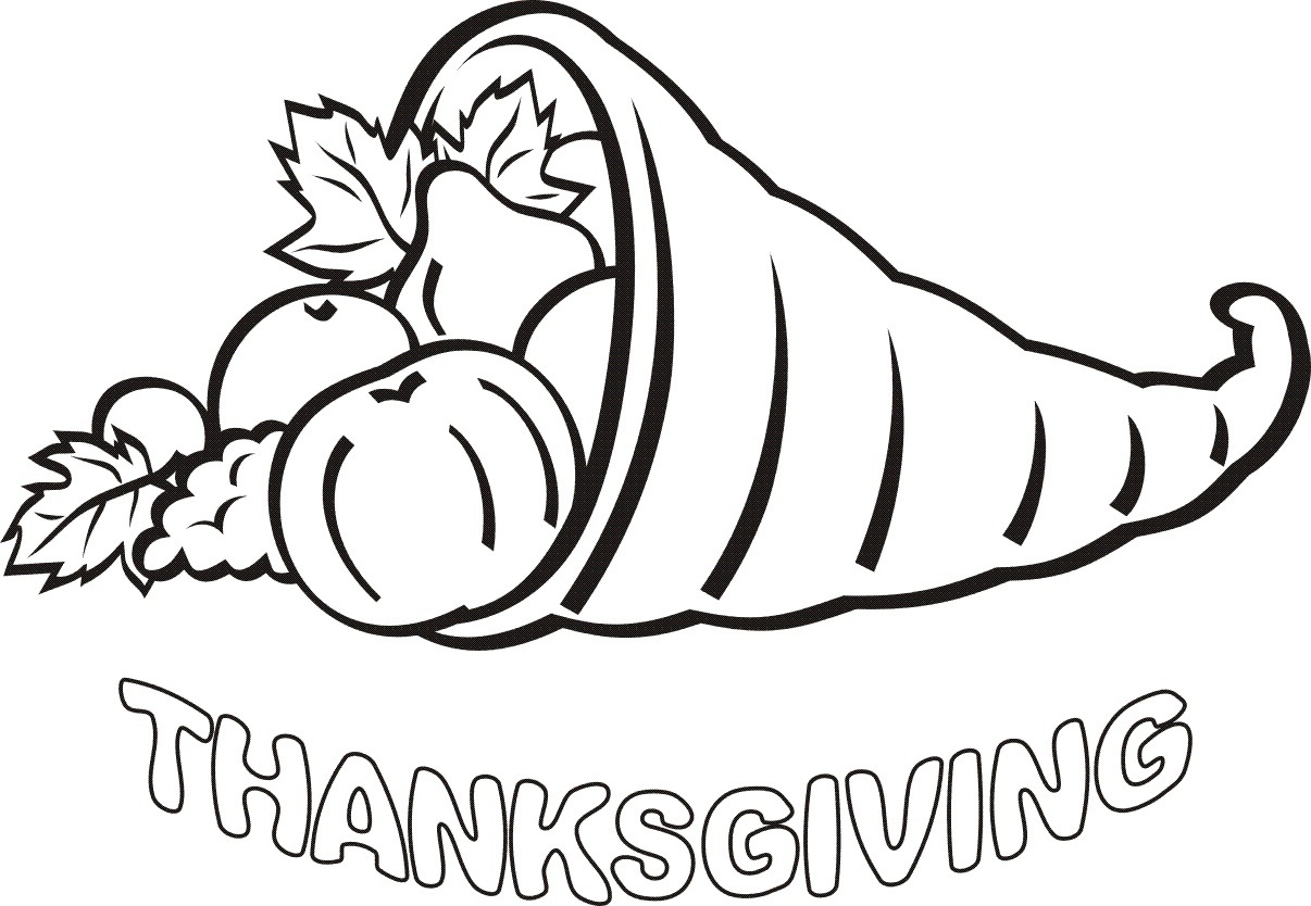 1206x834 Simple Thanksgiving Coloring Pages