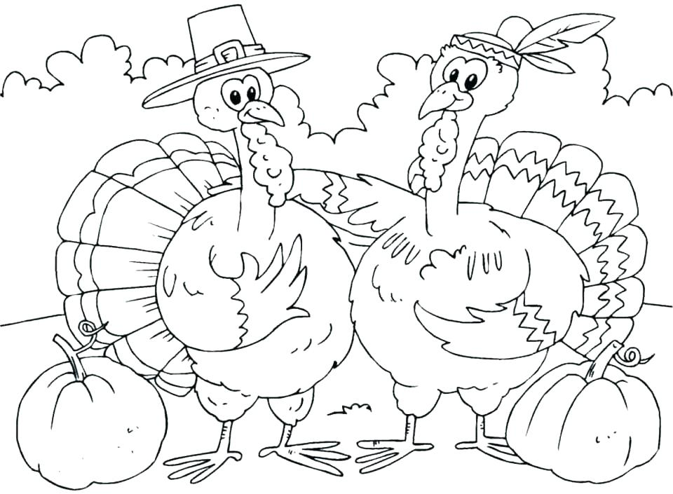 960x705 Thanksgiving Coloring Pages Printable Free Turkey Coloring Pages