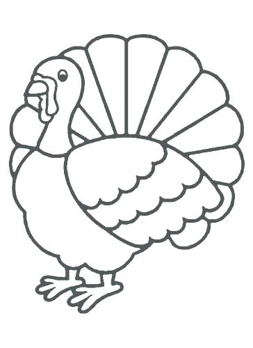 364x500 Turkey Coloring Pages For Preschoolers Coloring Pages Turkey Color