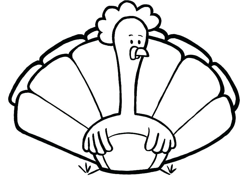 835x624 Turkey Coloring Pages For Preschoolers Plus Thanksgiving Coloring