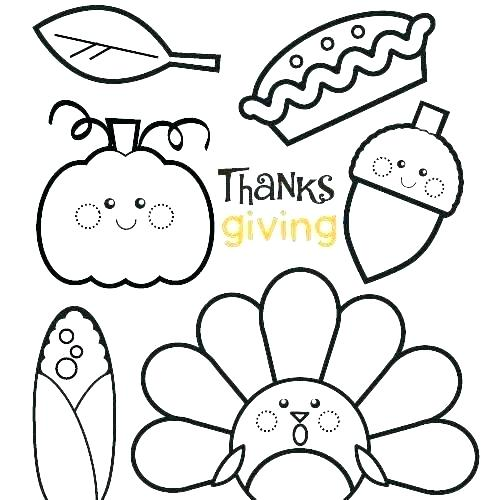 500x500 Coloring Page Of Turkey