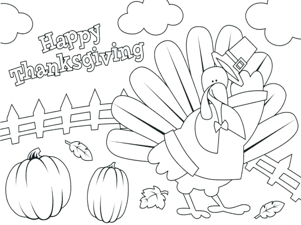 1024x766 Turkey Coloring Pages For Preschoolers