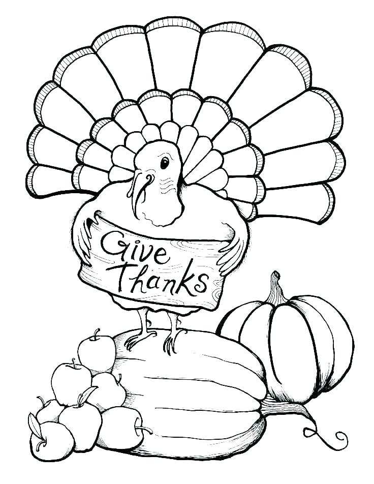 736x952 Turkey Coloring Pages Printable Free