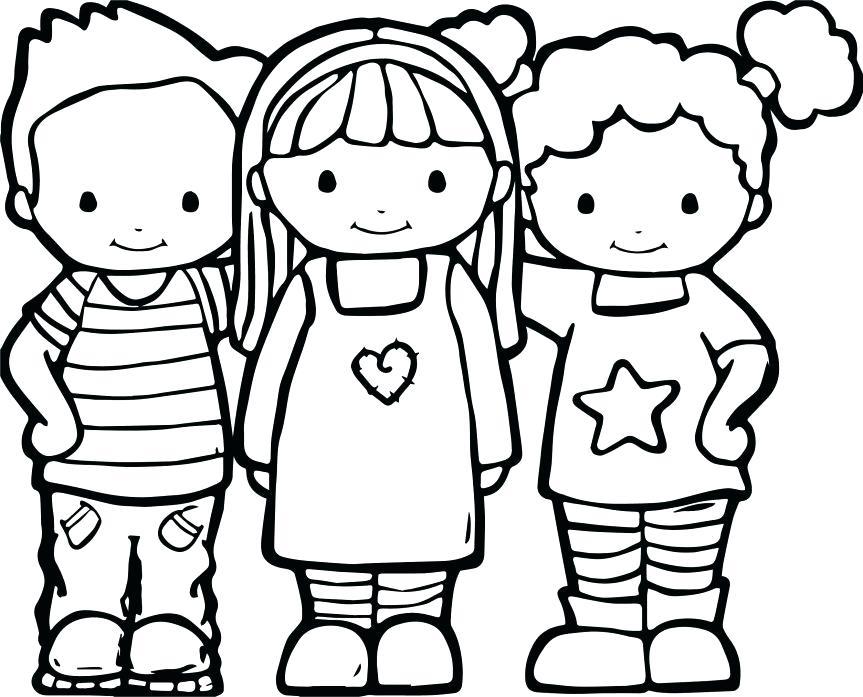 863x697 Best Friends Coloring Pages Best Friends Color Coloring Pages