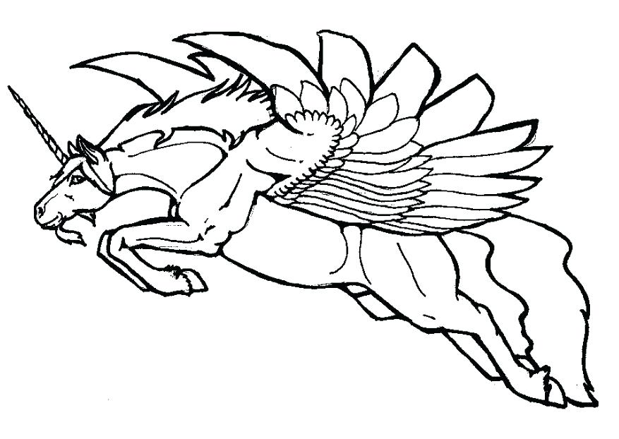 877x622 Pegasus Coloring Pages Coloring Pages Unicorn Colouring Pages Page