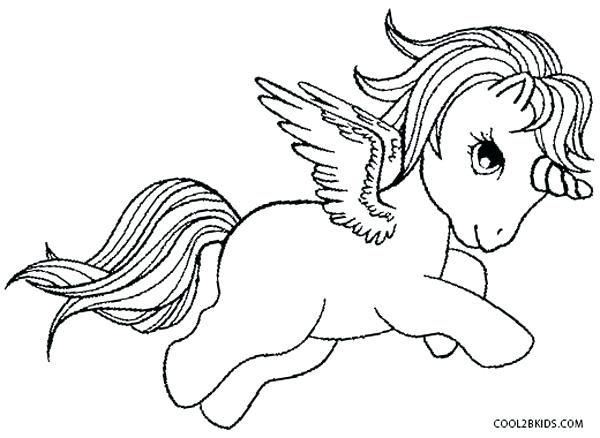 600x438 Unicorn Pegasus Colouring Pages Epic With Wings Coloring In Fee