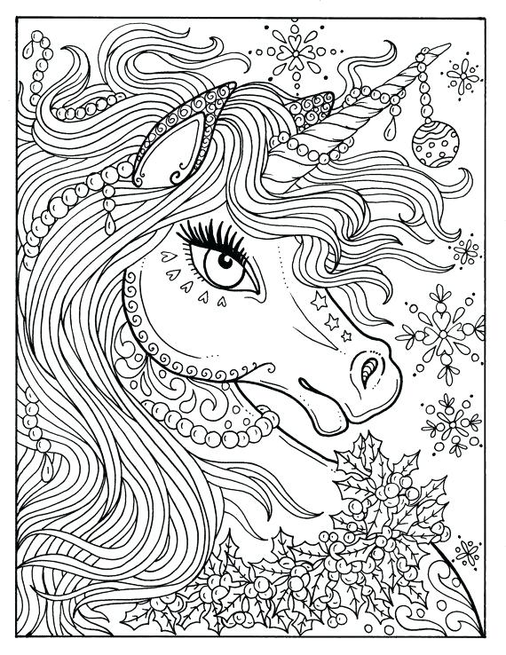 570x738 Unicorn Pictures To Color Together With The Incredible Myth