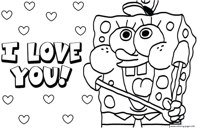 687x448 Printable Valentine Coloring Pages Download Free Printable Hello