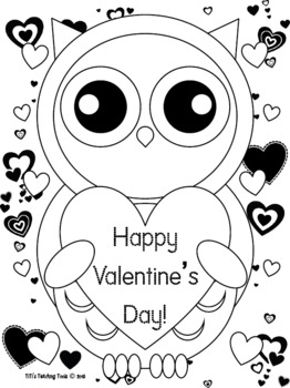 262x350 Valentine's Day Owl Coloring Page! {valentine's Dayowl Theme} Tpt