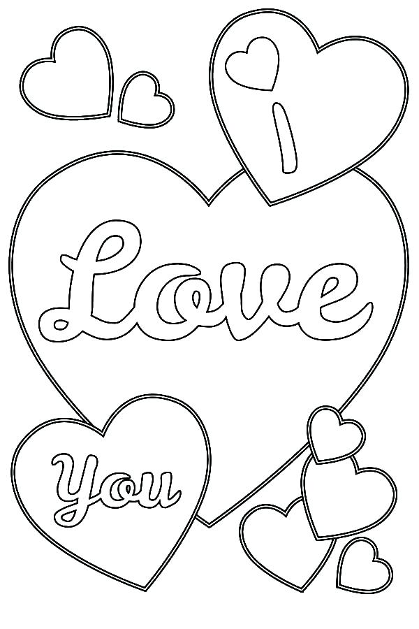 600x900 Coloring Pages Of Hearts I Love You Valentines Day I Love You