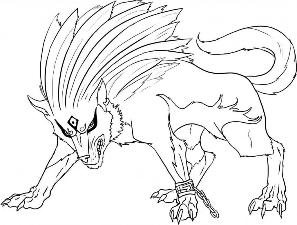 1024x776 Wolf With Wings Coloring Pages