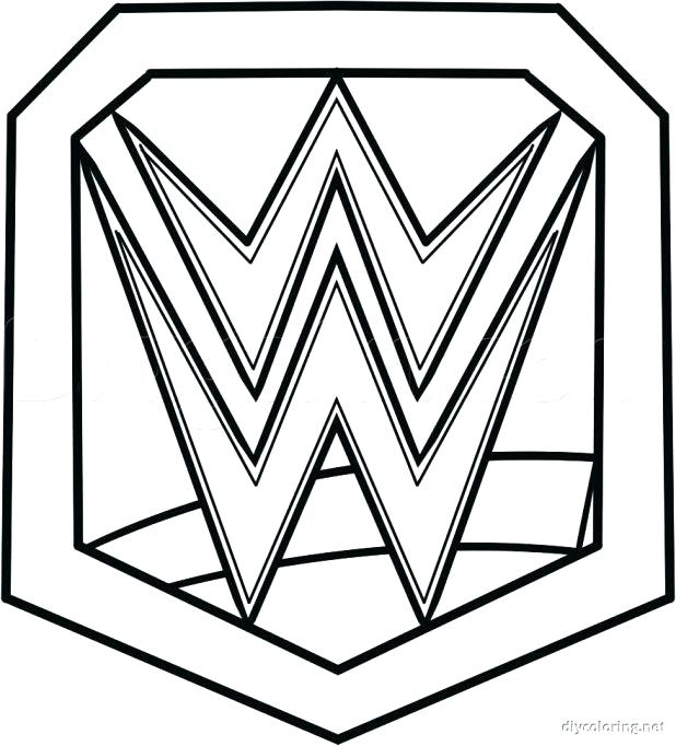 618x682 Brilliant Design John Cena Coloring Pages Wwe Photo Gallery