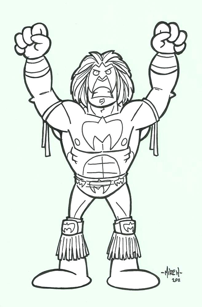 657x1000 Wwe Color Pages Ultimate Warrior Coloring Pages The Ultimate