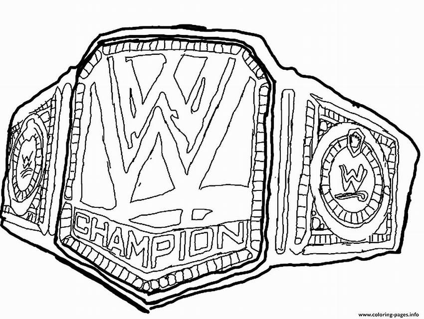 850x640 Championship Title Belts Coloring Pages
