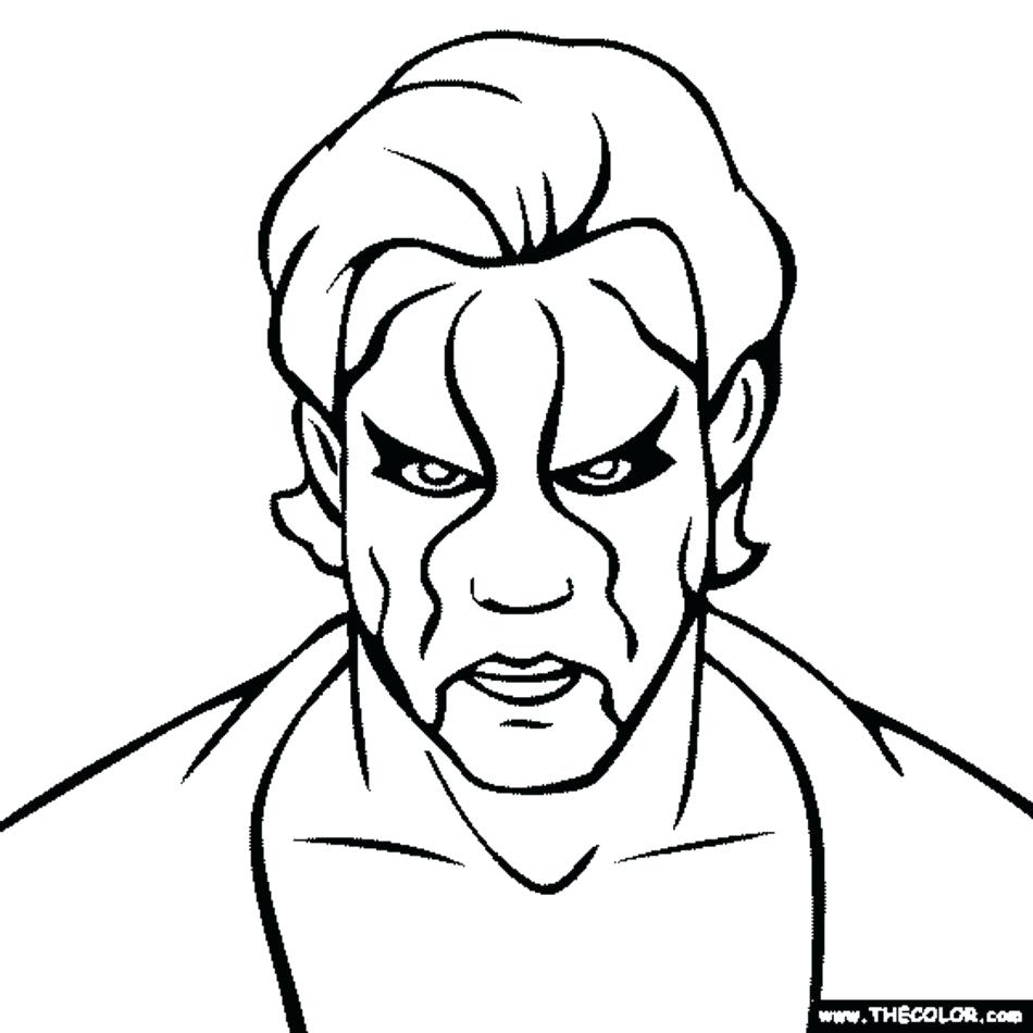 950x950 Coloring Pages Wwe Coloring Pages Sting Of Belts Wwe Coloring