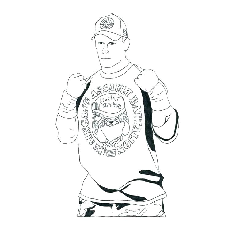 760x760 Wwe Wrestling Coloring Pages