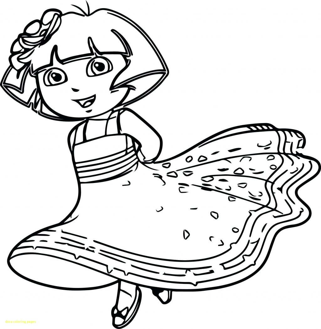 1024x1050 Dora Coloring Pages Online Best Of Sheets Games