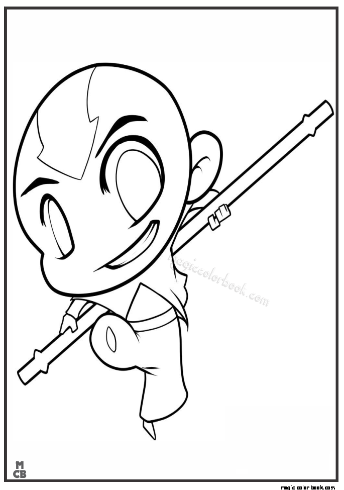 685x975 Avatar Aang Coloring Pages Online Free