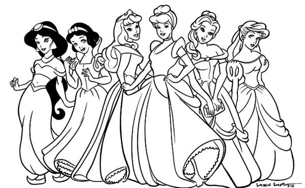 600x371 Princess Colouring Pictures To Print Coloring Pages Online Disney