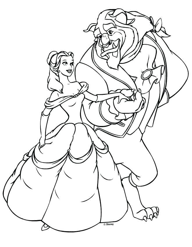 660x847 Disney Princess Belle Coloring Pages