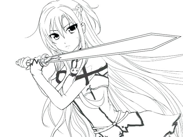 640x480 Anime Girl Pet Coloring Pages Online Print Free Anime Coloring