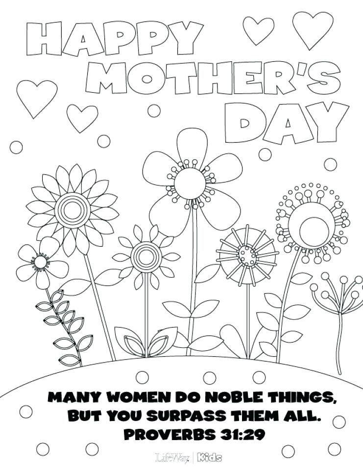 741x960 Happy Mothers Day Coloring Pages Online Mothers Day Coloring Pages